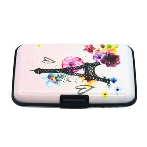 Aluminum Business Tower Print ID Credit Card Case Women RFID Cardholder