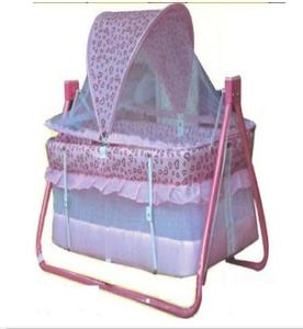 Imported Brand Baby Swing Cot & Cradle With Dual Stand Support - Pink Color