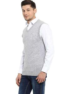 Sleeve Less Fleece Sweaters In Grey For Him