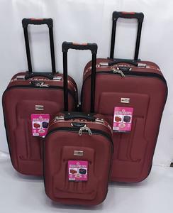 Super Premium Deluxe Set OF 3 Pcs 2 Wheel Soft Trolly Suitcase