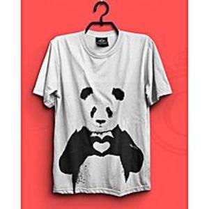 Gem & LibWhite Panda Printed T-Shirt - Gnl-Ms702