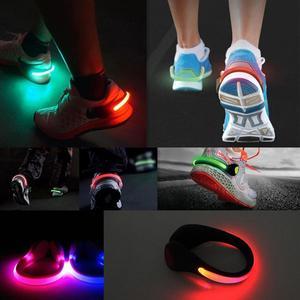 2PC LED Luminous Shoe Clip Light Night Safety Warning Cycling Running Sport