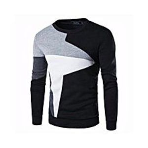 Rajani Collection Black Fleece Sweat Shirt for Men