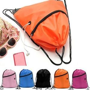 Drawstring Backpack Cinch Sack Storage Bags School Tote Gym Bag Sport Pack