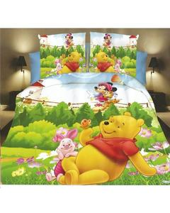 Kids Cartoon Character Cotton Printed Bedsheet
