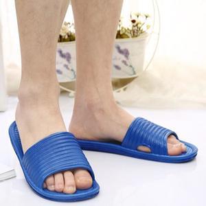 BlingBlingStar Man Stripe Flat Bath Slippers Summer Sandals Indoor & Outdoor Slippers