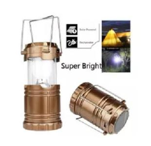 Outdoor Lamp Light,Solar USB Charging Rechargeable Outdoor Camping Tent Lantern Light 6 LED Lamp