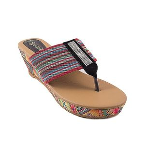Sputnik Multicolour Synthetic Leather Wedge for Women - 2387/245 - US Size