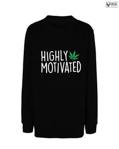 Highly Motivated Printed Sweat Shirt For Her