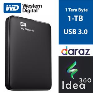 1 TB External Hard Disk Portable 1 TERA BYTE WD Element Hard Drive USB 3.0