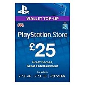 SonyPlaystation Gift Card - £25 UK For PS4 - PS3 - PSVita