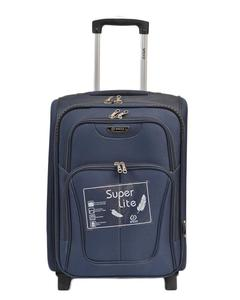 Asaan Parhai 2 Wheels (One Directional Wheels) Travel Suitcase Trolley Good Quality - 20 Inch Height - Blue