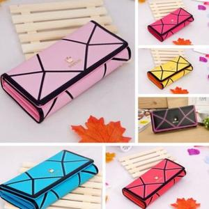 New Women Wallets Patchwork PU Leather Luxury Gold Crown Lady Handbags Coin Purse Woman 20*8cm