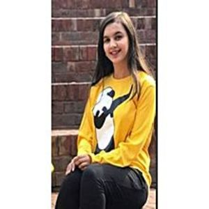 Fashion FactoryYellow Panda Dap Cotton Printed T-Shirt For Women