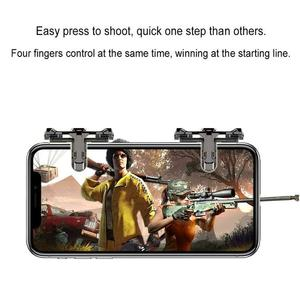 1Pair Gaming Trigger Phone Game PUBG Mobile Controller Gamepad for Android IOS iPhone