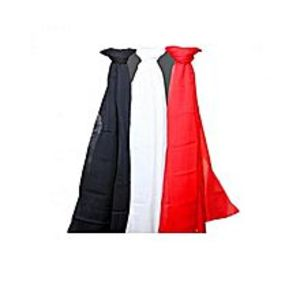 FASHIONS VALLEYPack Of 3 - Black Red White Chiffon Stole For Women