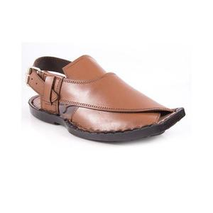 Mustard Artificial Leather Peshawari Sandal for Men -9