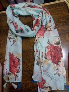 Floral Design lawn fabric stolers scarves for women
