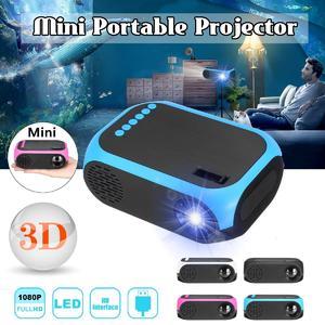 1080P HD Mini Projector 3D LED Multimedia Home Cinema Theater Portable AV USB