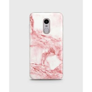 Xiaomi Redmi Note 4 Soft Cover Pink And White Marble - 1Cover478