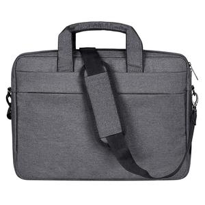 Breathable Wear-resistant Thin and Light Fashion Shoulder Handheld Zipper Laptop Bag with Shoulder Strap, For 15.6 inch and Below Macbook, Samsung, Lenovo, Sony, DELL Alienware, CHUWI, ASUS, HP(Dark Grey)
