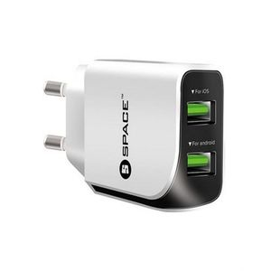 Space Dual Port Usb Wall Charger - Wc-110