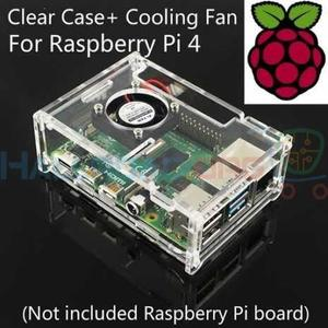 transparent acrylic box with cooling fan for Raspberry Pi 4 Model B