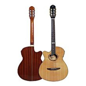 Tagima Classical Sami-Acoustic Left-Hand Guitar 40''C With Tuner EQ (N)+Bag+Strap+Picks