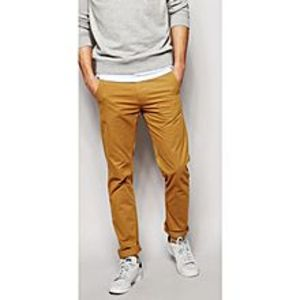 YMG Empire Brown Cotton Chino Slim Fit For Men