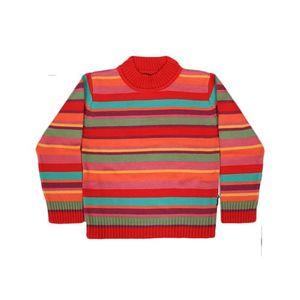 Red & Orange Yarn Dyed Sweater 225683 217678