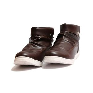 Back Lace Up Shoes - Brown