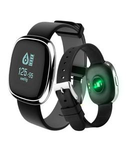 Sport Smart Bracelet Blood Pressure Heart Rate Pedometer Monitoring Watch- Sliver