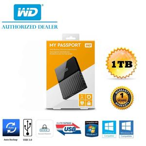 WD 1TB My Passport Ultra Portable External Hard Drive - USB 3.0 - Auto Backup - Black