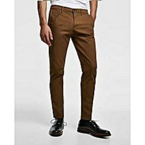 YMG Empire Chocolate Brown Slim Fit Chino For Men