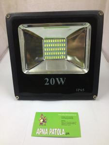 LED Flood Light 20 Watt - Waterproof - White Commercial or Residential Grade Security Flood Light