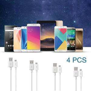 Amazing  4PCs Micro USB Charger Charging Sync Data Cable For Samsung S4 S5 S6 EDGE