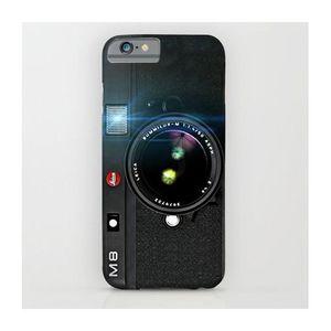 Black Doft Vintage Camera Printed Cover Case (Samsung C7)