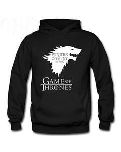 Black Game Of Thrones Kangroo Hoodie For Men and women 048