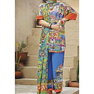 AlmirahPink LAWN Stitched Suit