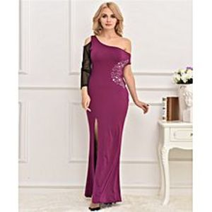 Lovers DressPurple Maxi With One Sleeve