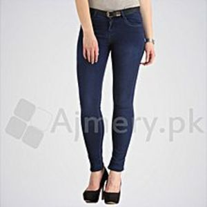 The Ajmery Women's Lotus Blue Skinny Jeans. DTX-28