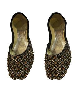 Women Fancy Wedding Khussa Shoes Khusa Mehndi Black Shoe