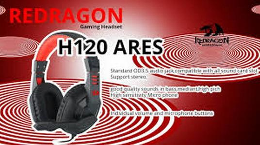 Redragon H120 Wired Gaming Headset with Microphone for PC only (Black)