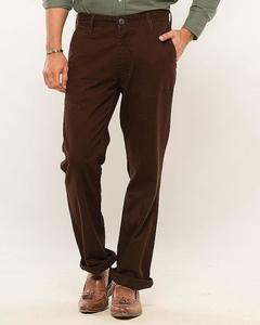 Brown Slim Chinos For Men
