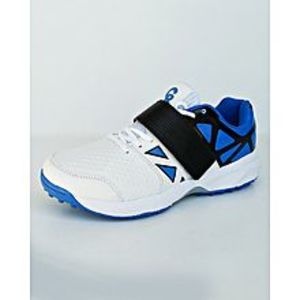 BEST OFFERS Blue - Black And White Cricket Gripper Shoes For Men