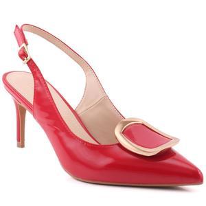 "Women ""Ella"" Patent Buckled Vamp D'orsay Stiletto Heel Sandals  L31791"