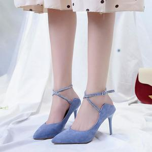 Women's Fashion Pointed Toe High Heels Women Wild Stiletto Dancing  Sandals