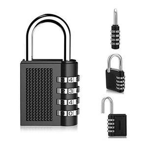 4 Digit Combination Lock Padlock For Locker Gym Bag School Travel Suitcase