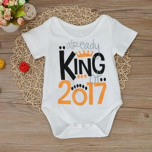 Perfect Meet new authentic warm Korean version of handsome Newborn Toddler Baby Boys Girls Cotton Printing Romper Jumpsuit Clothes Outfits