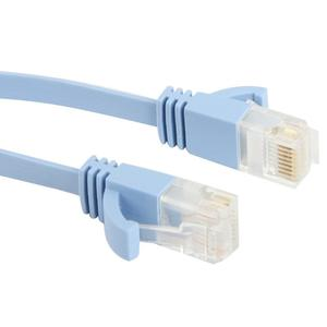 CAT6a Ultra-thin Flat Ethernet Network LAN Cable, Length: 50m (Baby Blue)